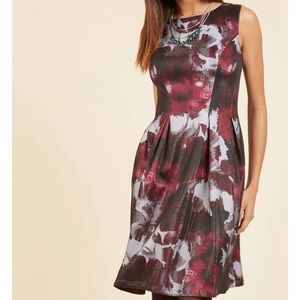 Adrianna Papell Mesmeric Moments A-Line Dress  NWT